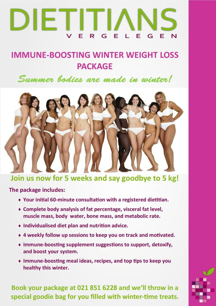 Weight loss program, Somerset West, under guidance of a registered dietitian