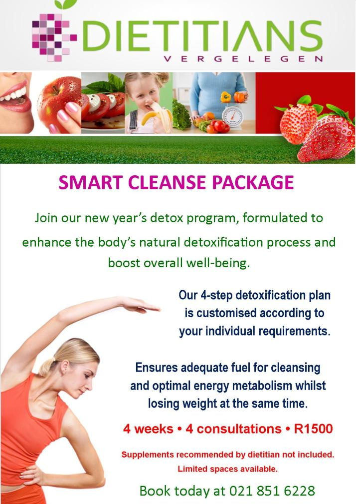 Detox diet package at Vergelegen Dietitians